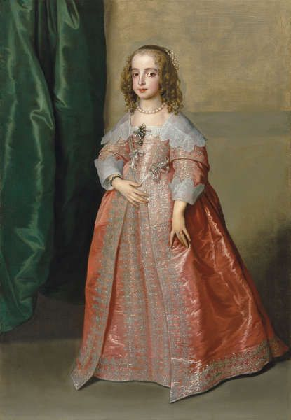 Anthonis van Dyck, Hochzeitsporträt von Prinzessin Maria Henrietta Stuart, 1641, Öl/Lw, 158,2 × 108,6 cm (Szépművészeti Múzeum, Budapest)