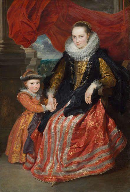 Anthonis van Dyck, Susanna Fourment mit ihrer Tochter Clara del Monte, 1621, Öl auf Leinwand, 172 x 117 cm (© National Gallery of Art, Andrew W. Mellon Collection, Washington, DC)