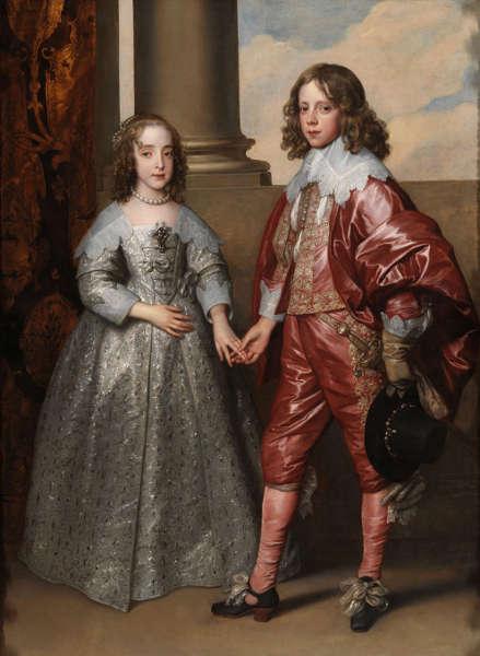 Anthonis van Dyck, Willhelm II, Prinz von Oranien, und seine Braut, Maria Stuart, 1641, Öl/Lw, 182,5 × 142 cm (Rijksmuseum, Amsterdam)