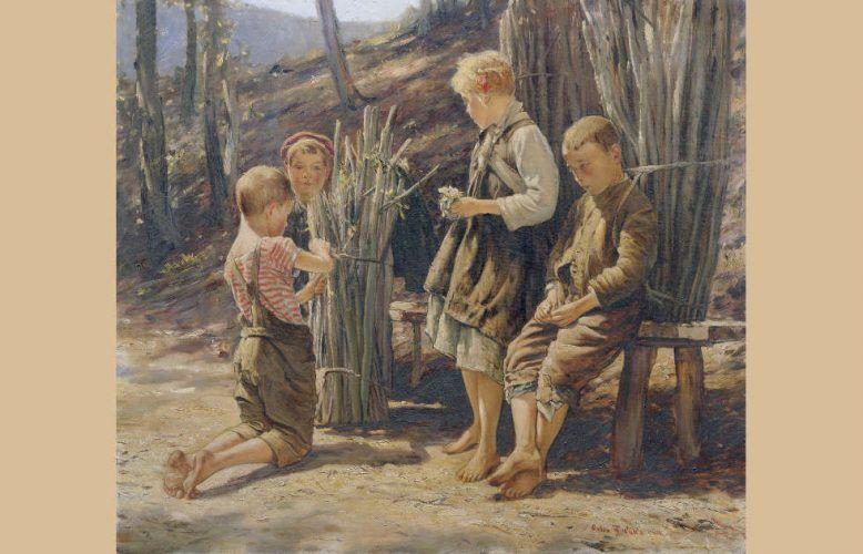 Anton Filkuka, Holzsammelnde Kinder, 1925 (Belvedere, Wien)