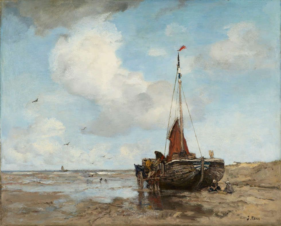 Anton Mauve, Boot am Strand, 1882, Öl/Lw, 115 x 172 cm (Gemeentemuseum Den Haag. Gift of the Friends of Gemeentemuseum Den Haag, 1887)