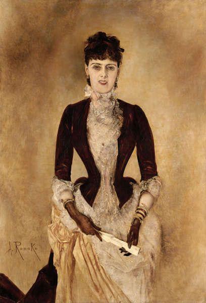 Anton Romako, Bildnis Isabella Reisser, 1885, Öl/Lw, 130,5 × 90 cm (Leopold Museum, Wien, Foto Leopold Museum, Wien)