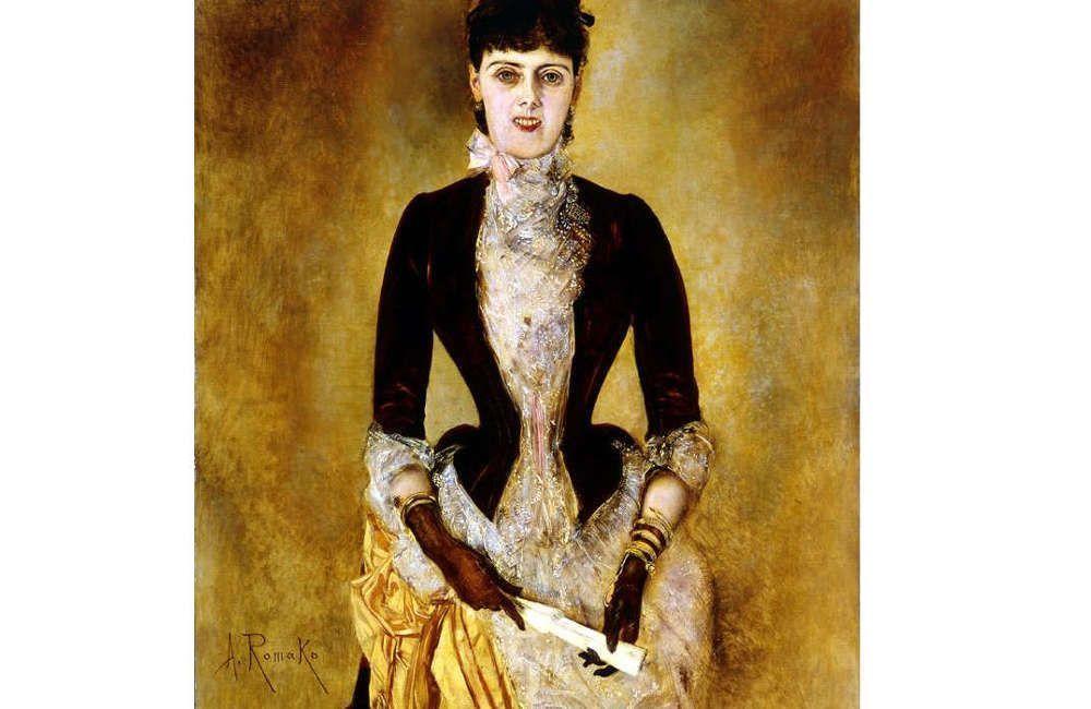 Anton Romako, Bildnis der Isabella Reisser, Detail, 1885 (Leopold Museum)