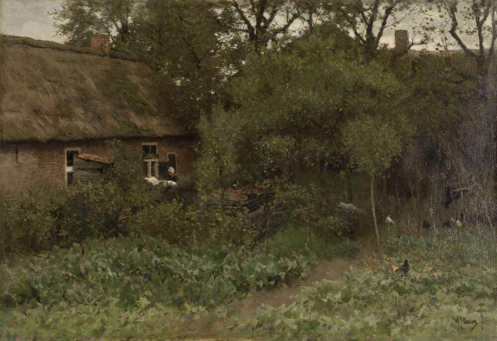 Anton Mauve, Der Gemüsegarten, um 1885–um 1888, Öl auf Leinwand, 61 × 87 cm (Rijksmuseum, Amsterdam)
