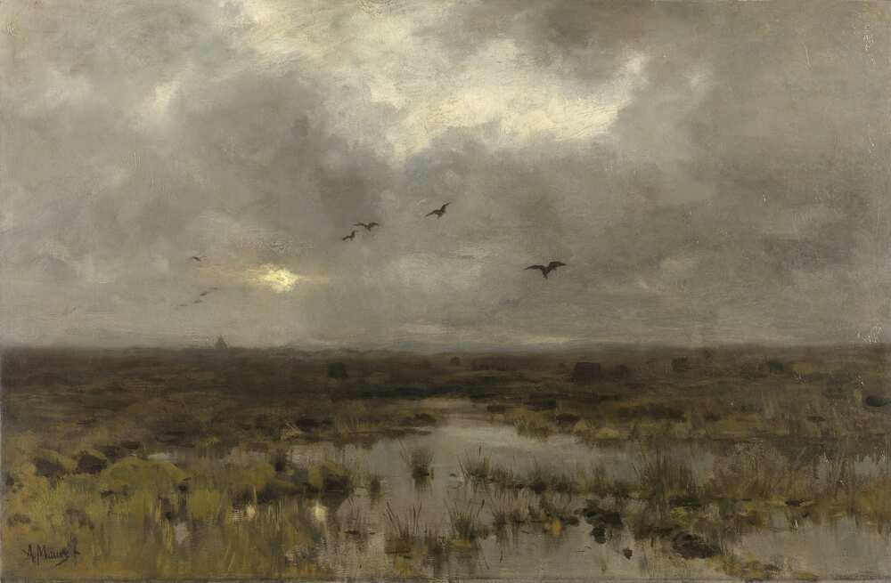 Anton Mauve, Das Marschland, 1885, Öl auf Leinwand, 60 x 90 cm (Rijksmuseum, Amsterdam)