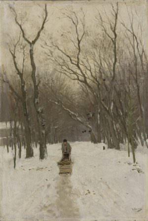 Anton Mauve, Winter in den Wäldern von Scheveningen, um 1875–1880