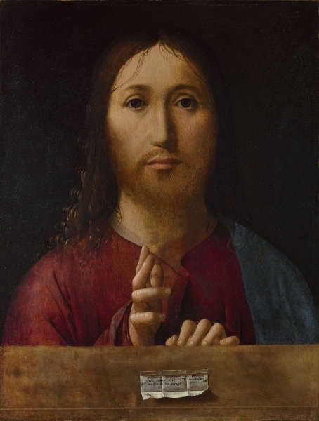 Antonello da Messina, Salvator Mundi, 1465, Öl/Holz, 38,7×29,8 cm (The National Gallery, London)