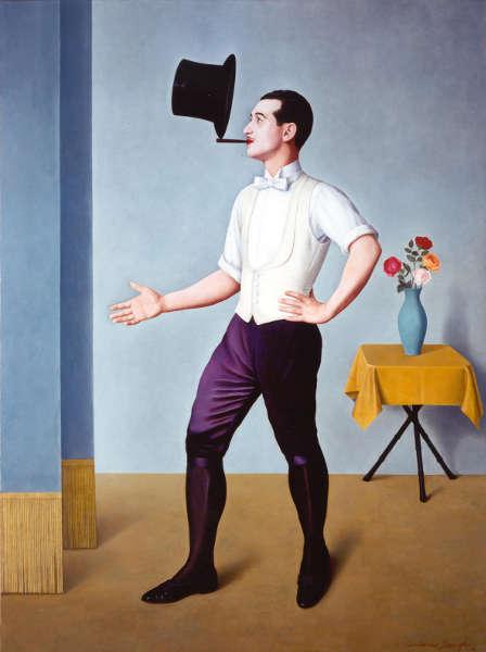 Antonio Donghi, Der Jongleur, 1936, Öl/Ln, 116 x 86,5 x 3 cm (Privatsammlung)