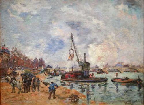 Armand Guillaumin, Am Quai d'Austerlitz in Paris, um 1874, Öl/Lw, 56,1×72,4cm (Hamburger Kunsthalle, Inv. Nr. HK-5321)
