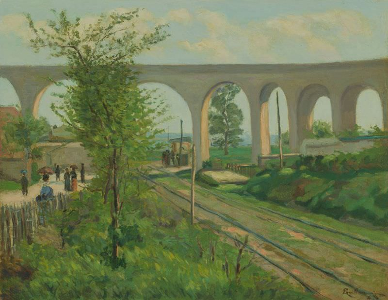 Armand Guillaumin, Viaduc de Fleury, 1874, Öl auf Leinwand, 51.5 x 65 cm (The Art Institute of Chicago, Restricted gift of Mrs. Clive Runnells, 1970.95)