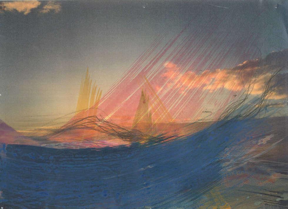 Arnulf Rainer, Aus der Himmelsserie: Ohne Titel, 1999–2002, Mischtechnik auf Laserkopie (Albertina, Wien © Arnulf Rainer)