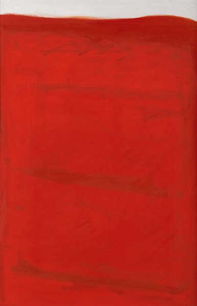 Arnulf Rainer, Rotes Land, 1960/1963, Öl/Lw (Albertina, Wien. Sammlung Batliner © Arnulf Rainer)