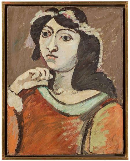 Arshile Gorky, Portrait of Ahko, um 1937, Öl/Lw, 49.5 x 38.1 cm (Privatsammlung)