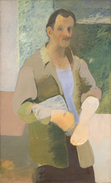 Arshile Gorky, Self- Portrait, um 1937, Öl/Lw, 141 x 86.4 cm (Privatsammlung, Foto Constance Mensh, Philadelphia Museum of Art)