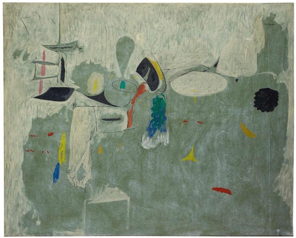 Arshile Gorky, The Limit, 1947, Öl/Papier montiert auf Lw, 128.9 x 157.5 cm (Privatsammlung)