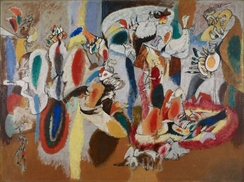 Arshile Gorky, The Liver Is the Cock's Comb, 1944, Öl/Lw, 186.1 x 249.9 cm (Albright-Knox Art Gallery, Buffalo, New York, Gift of Seymour H. Knox, Jr., 1956, K1956:4, Image courtesy Albright-Knox Art Gallery)