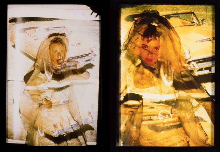 Art Party Gang, Can you handle success (Serie 3: Bräute), 1992, Farbfoto, 32,3 x 23,3 cm (Wien Museum)