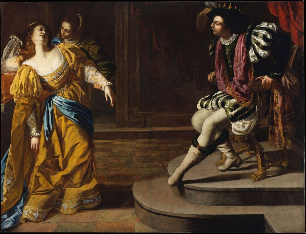 Artemisia Gentileschi, Esther vor Ahasver, um 1628–1630, ÖlLw, 208.3 × 273.3 cm (The Metropolitan Museum of Art, New York, Gift of Elinor Dorra)