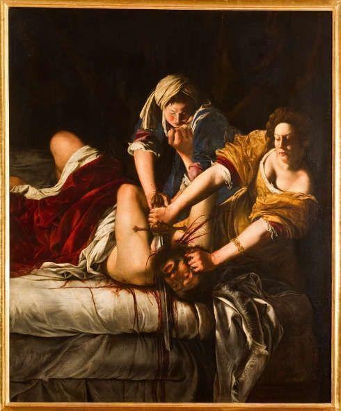 Artemisia Gentileschi, Judith enthauptet Holofernes, um 1613/14, Öl7Lw, 199 × 162.5 cm (Galleria degli Uffizi, Florenz, © Gabinetto fotografico)