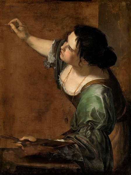 Artemisia Gentileschi, Selbstporträt als die Allegorie der Malerei (La Pittura), um 1638/39, Öl/Lw, 98.6 x 75.2 cm (Royal Collection of Her Majesty the Queen Elizabeth II., Royal Collection Trust, RCIN 405551)