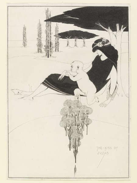 Aubrey Beardsley, Der Judaskuss [The Kiss of Judas], 1893 (Victoria and Albert Museum, London, UK)