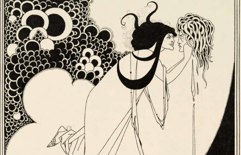 Aubrey Beardsley, The Climax, Detail, Illustration in Oscar Wildes Salome, 1893, Liniendruck auf Papier (Stephen Calloway Photo: © Tate)