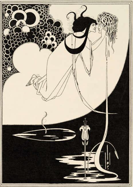 Aubrey Beardsley, The Climax, Illustration in Oscar Wildes Salome, 1893, Liniendruck auf Papier (Stephen Calloway Photo: © Tate)