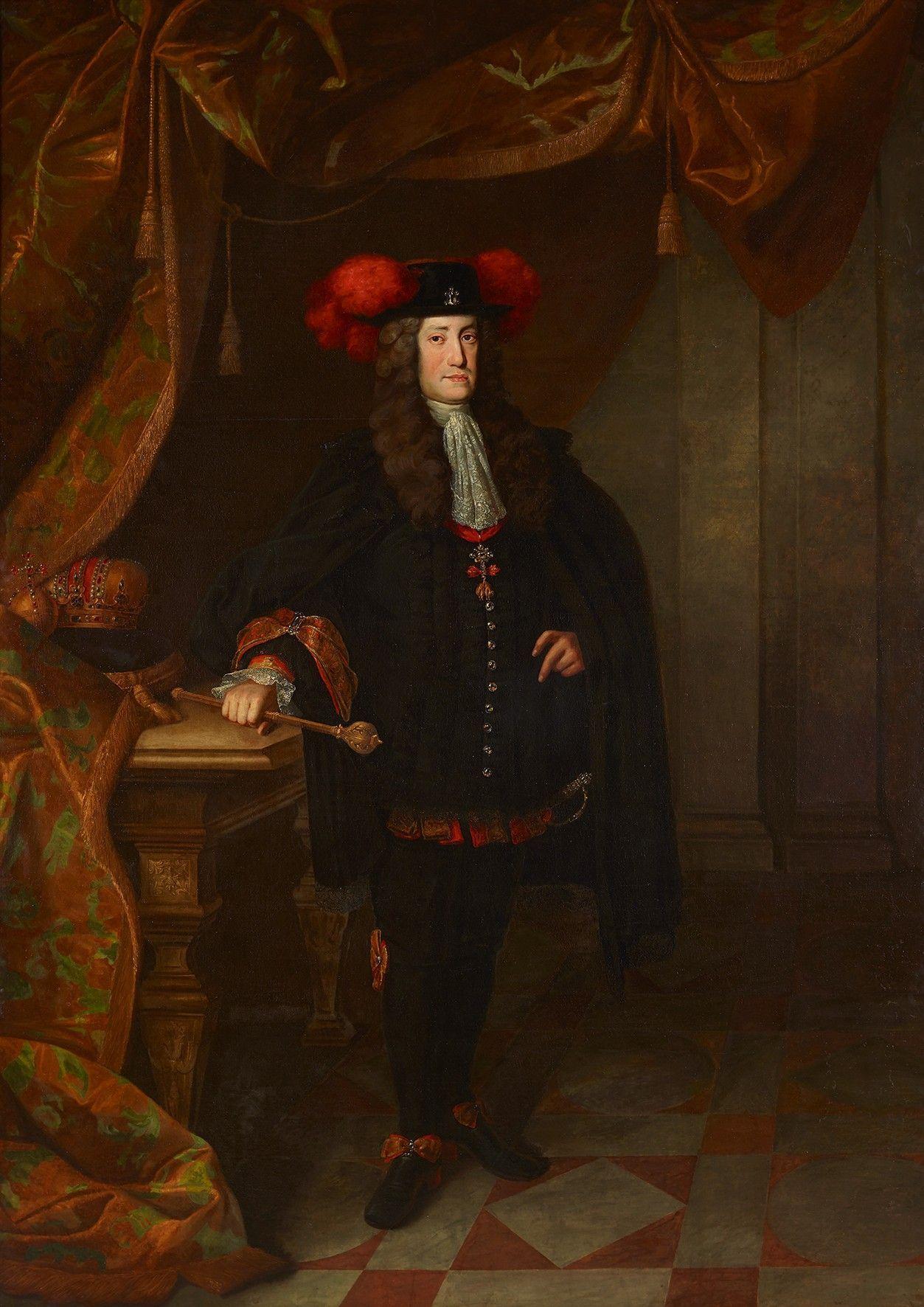 Johann Gottfried Auerbach, Kaiser Karl VI., 1730, Öl auf Leinwand, 262 x 188 cm © Belvedere, Wien