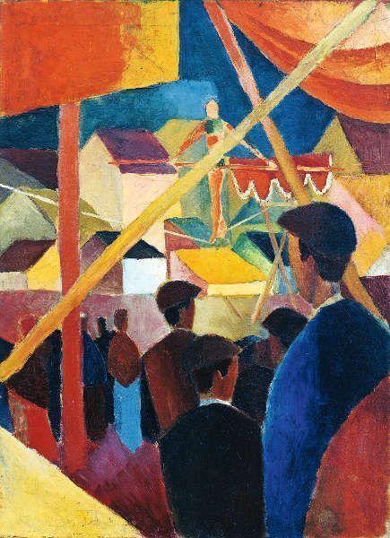 August Macke, Seiltänzer, 1914, Kunstmuseum Bonn. Foto: Reni Hansen, Kunstmuseum Bonn