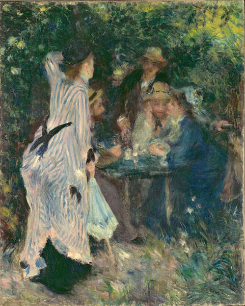 Auguste Renoir, Im Garten (Unter dem Baum der Moulin de la Galette), 1876-1880, Öl-Lw, 81 x 65 cm (Pushkin Museum)