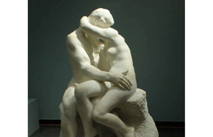 Auguste Rodin, Der Kuss, Detail, 1886, Marmor, dritte Kopie der Skulptur (Ny Carlsberg Glyptotek, Kopenhagen), Foto: Philipp Weissenbacher