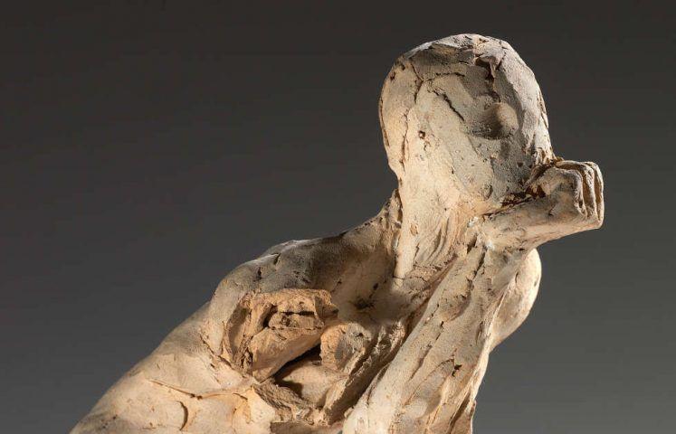 Auguste Rodin, Der Denker, Studie, Detail, 1881 (Musée Rodin, S.01168)