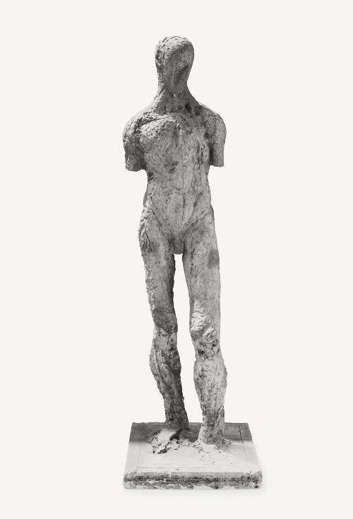 Joannis Avramidis, Modellierte Figur, 1958, Gips, H: 172,8 cm, Foto: Archiv Joannis Avramidis, Wien.