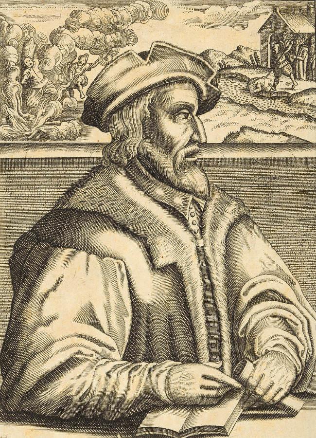 Der in Wien als Ketzer verbrannte Balthasar Hubmaier, 1609 © Wien Museum