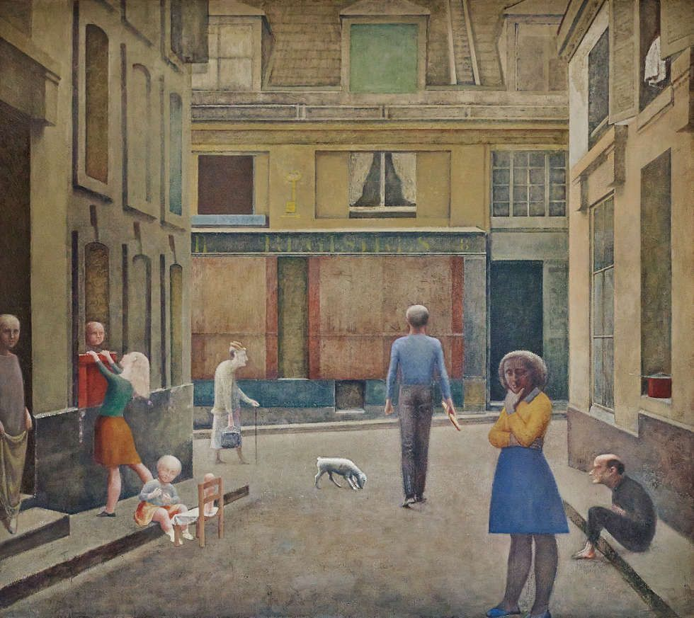 Balthus, Passage du Commerce-Saint-André, 1952–1954, Öl/Lw, 294 x 330 cm (Privatsammlung, © Balthus, Foto: Mark Niedermann)