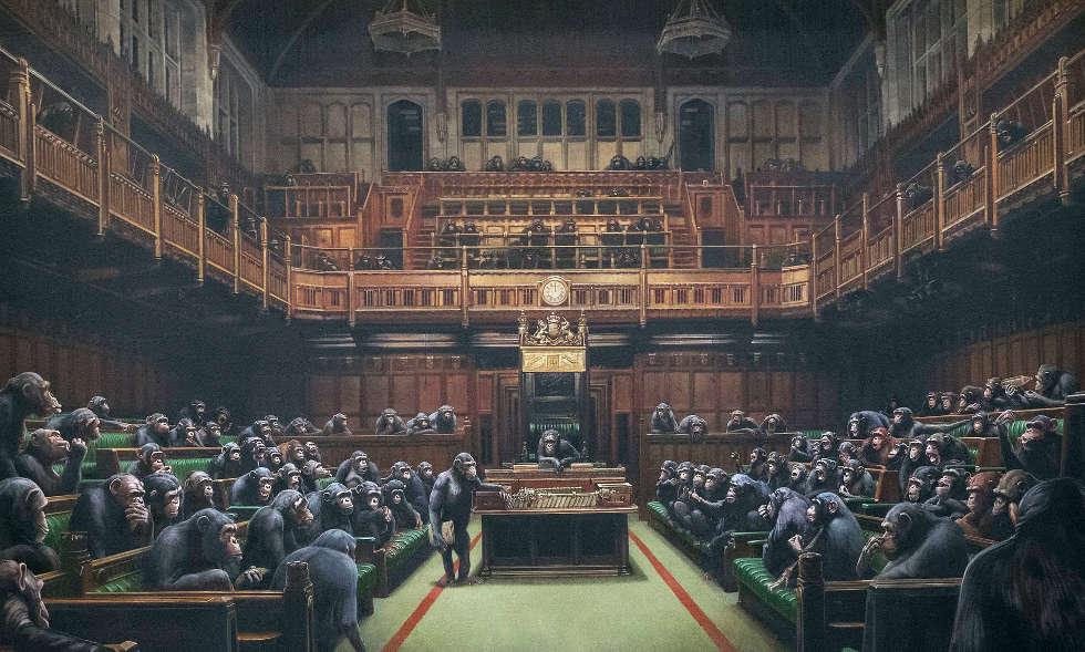 Banksy, Devolved Parliament, 2009 (Privatsammlung, © Banksy)