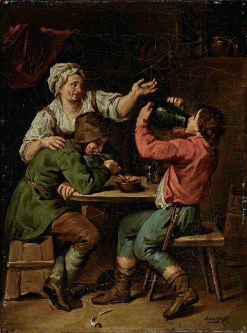 Barbara Krafft, Wirtshausszene I, 1804, Öl auf Leinwand (© Salzburg Museum)
