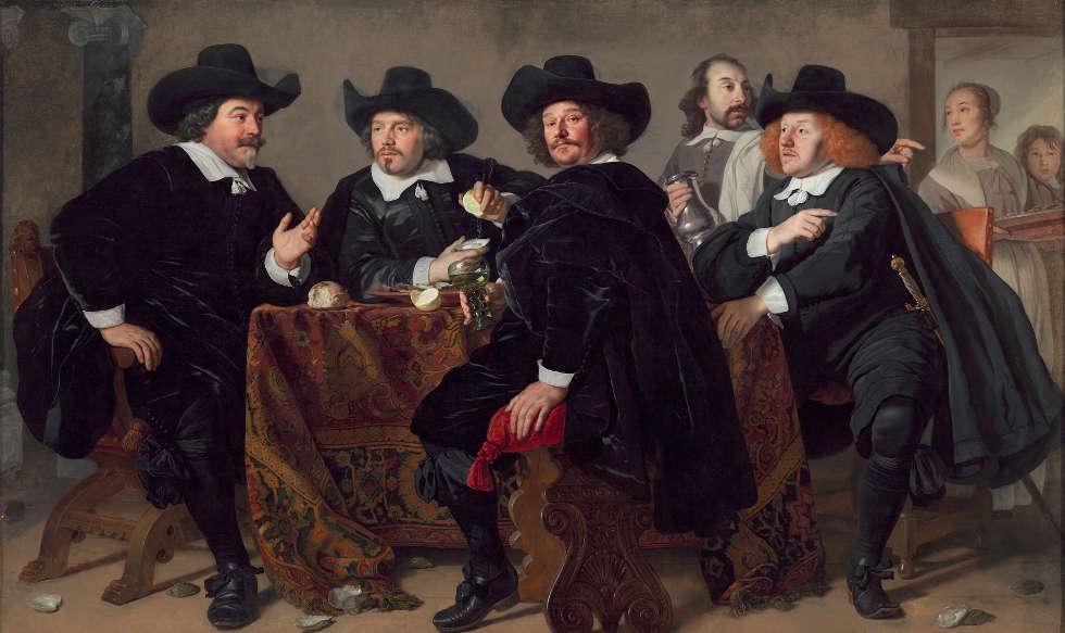 Bartholomeus van der Helst, Regenten des Bürgerwehrhauses der Armbrustschützen, 1655, Öl/Lw, 140,3 x 114,9 cm (Amsterdam Museum)