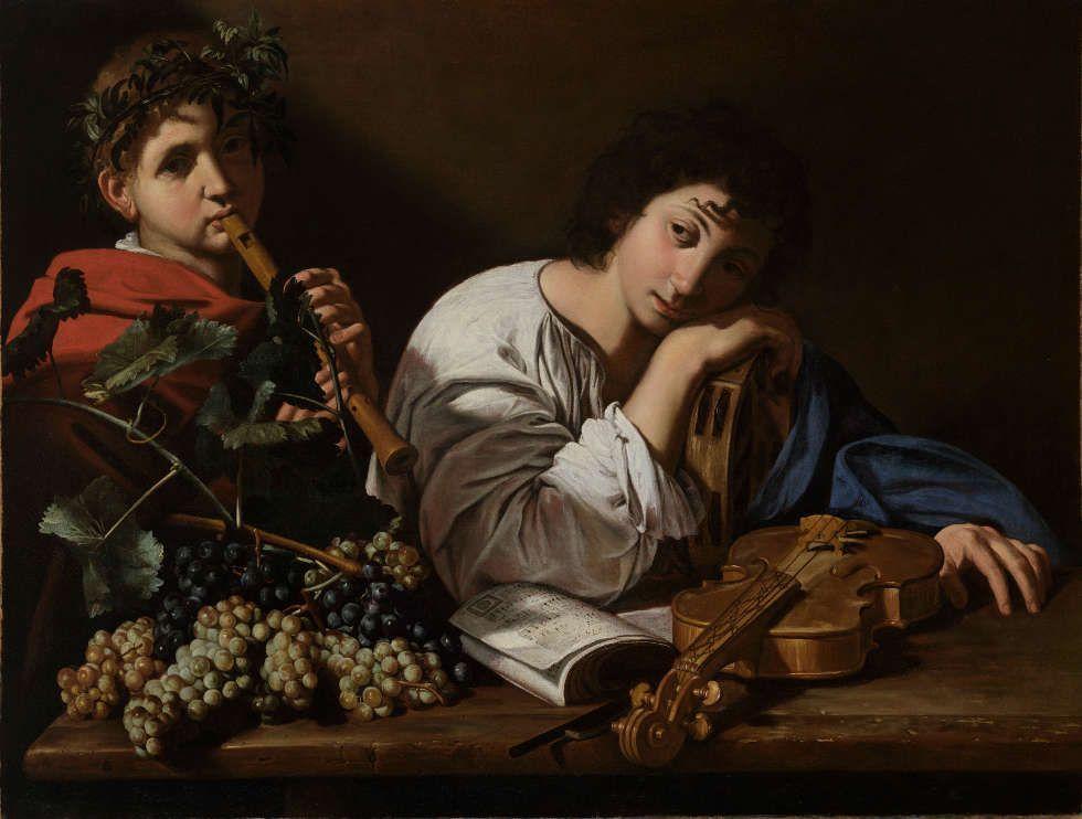 Bartolomeo Cavarozzi, Dolore di Aminte, um 1605–1610, Öl/Lw, 82,5 x 106,5 cm (Privatsammlung, courtesy Marco Voena)