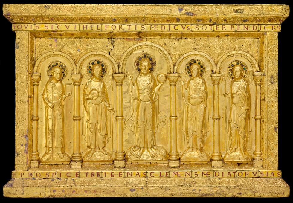 Baseler Antependium, vor 1019, 120 x 175 cm (© Paris, Musée de Cluny - Musée national du Moyen Âge)