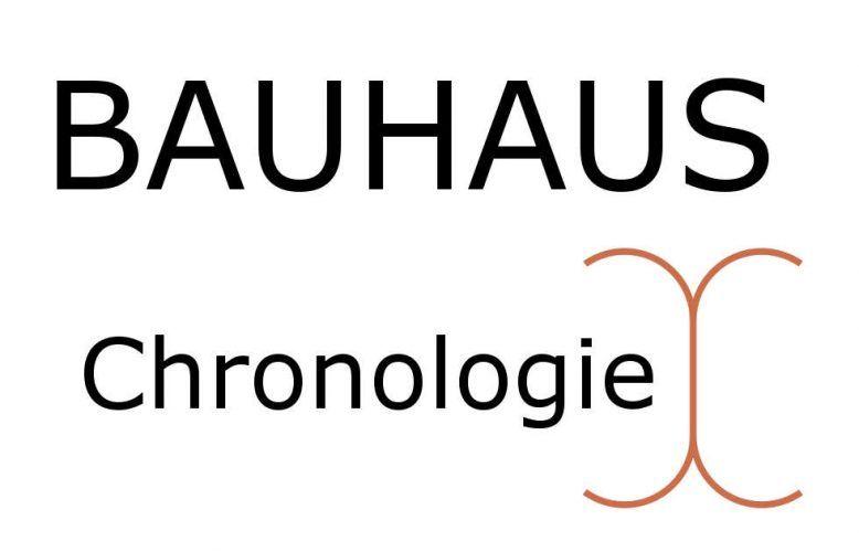 Bauhaus Chronologie