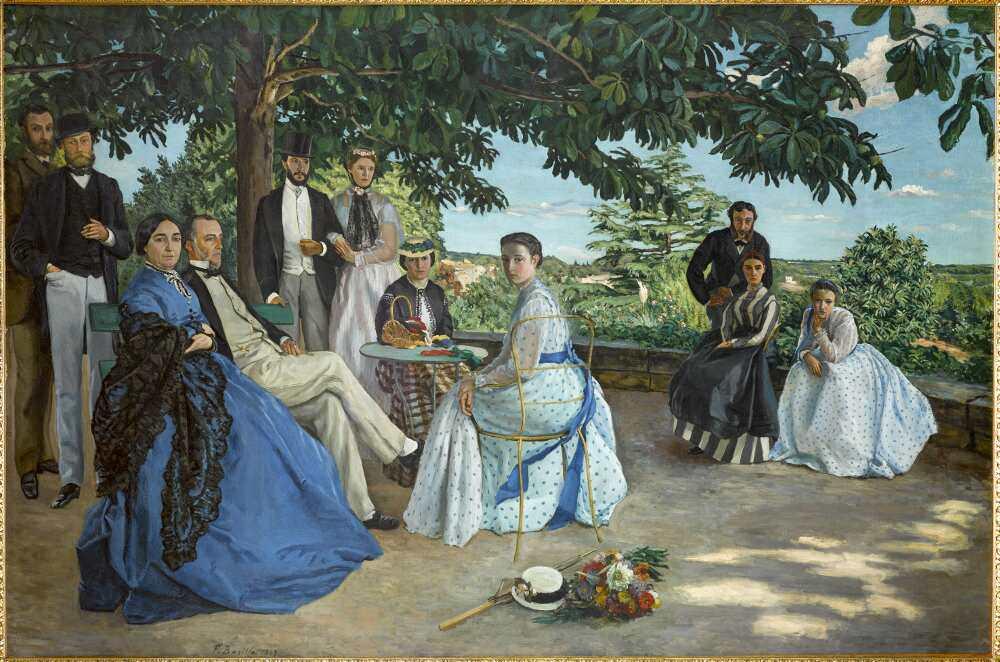 Frédéric Bazille, Das Familientreffen, 1867, Öl auf Leinwand, 152 x 230 cm (Paris, Musée d'Orsay © Photo Musée d'Orsay, Dist. RMN-Grand Palais / Patrice Schmidt)