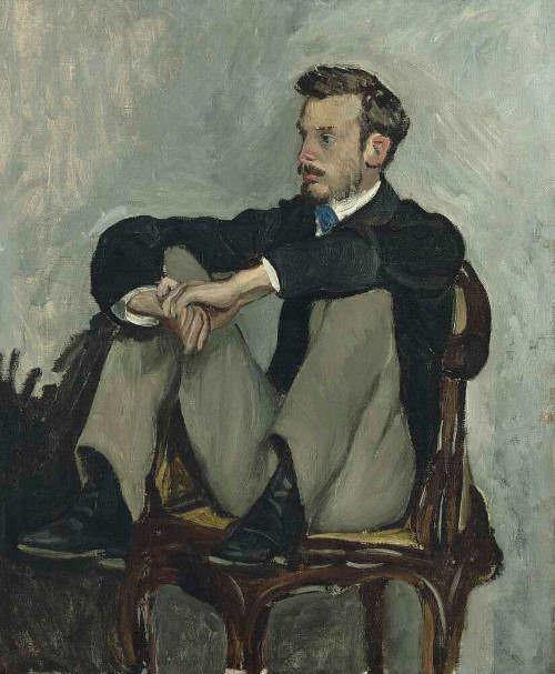 Frédéric Bazille, Pierre-Auguste Renoir, um 1868/69, Öl auf Leinwand, 61,2 x. 50 cm (Paris, Musée d'Orsay, dépôt du musée national des Beaux-Arts d'Alger, inv. DL 1970 3 © Musée d'Orsay, Dist. RMN-Grand Palais / Patrice Schmidt)