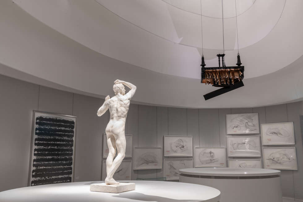Beethoven Bewegt im KHM, Ausstellungsansicht mit Rodin, Voigt und Horn © KHM-Museumsverband