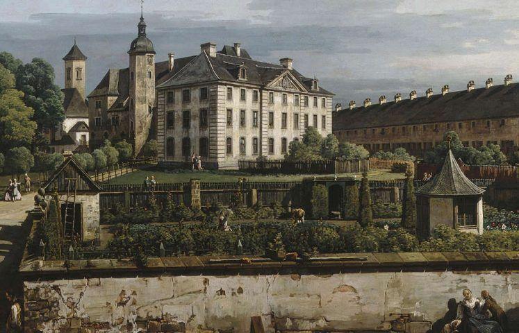 Bernardo Bellotto, Festung Königstein: Hof mit Brunnenhaus, Detail, 1756–1758, Öl/Lw, 133.9 × 238 cm (Manchester Art Gallery © Manchester Art Gallery, UK / Bridgeman Images)
