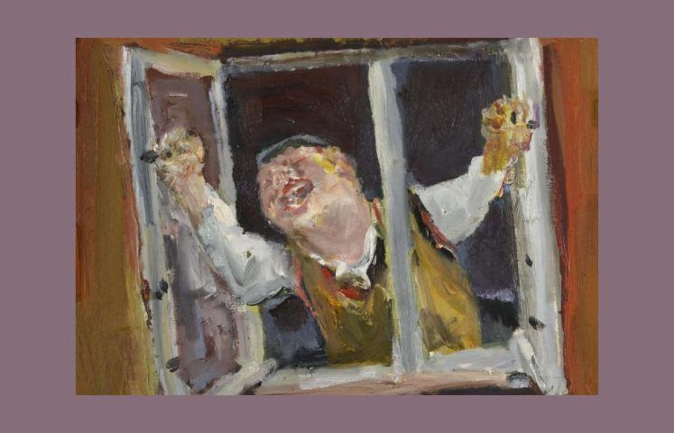 Bernhard Heisig, Der Fensteröffner, 1989 (Potsdam Museum, Dauerleihgabe Sammlung Vera Schreck, © VG-Bildkunst, Bonn)
