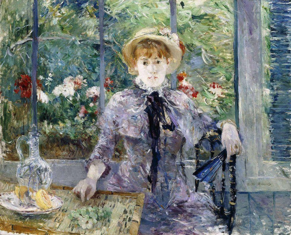 Berthe Morisot, À la campagne (Après le déjeuner) [Auf dem Land], 1881, Öl/Lw, 81 x 100 cm (Sammlung Larry Ellison)