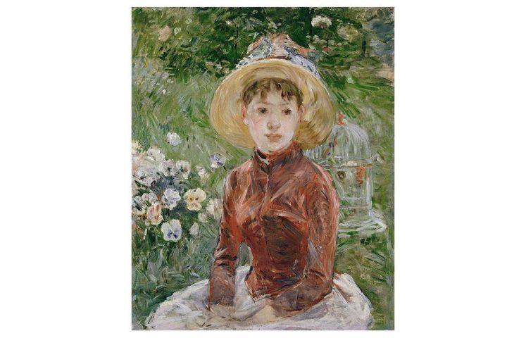 Berthe Morisot, Junges Mädchen im Gras. Mlle Isabelle Lambert, 1885, Öl/Lw, 74 x 60 cm (Ordrupgaard Museum, Kopenhagen)