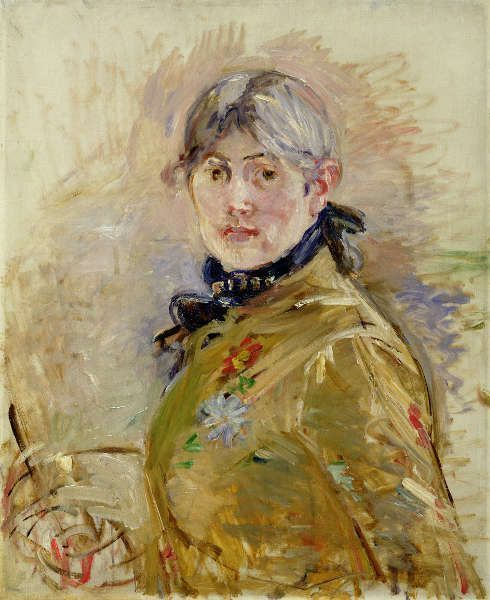 Berthe Morisot, Selbstporträt, 1885, Öl/Lw, 61 x 50 cm (Musée Marmottan Monet, Fondation Denis et Annie Rouart, photo gracieuseté du Musée Marmottan Monet, Paris / Bridgeman Images)