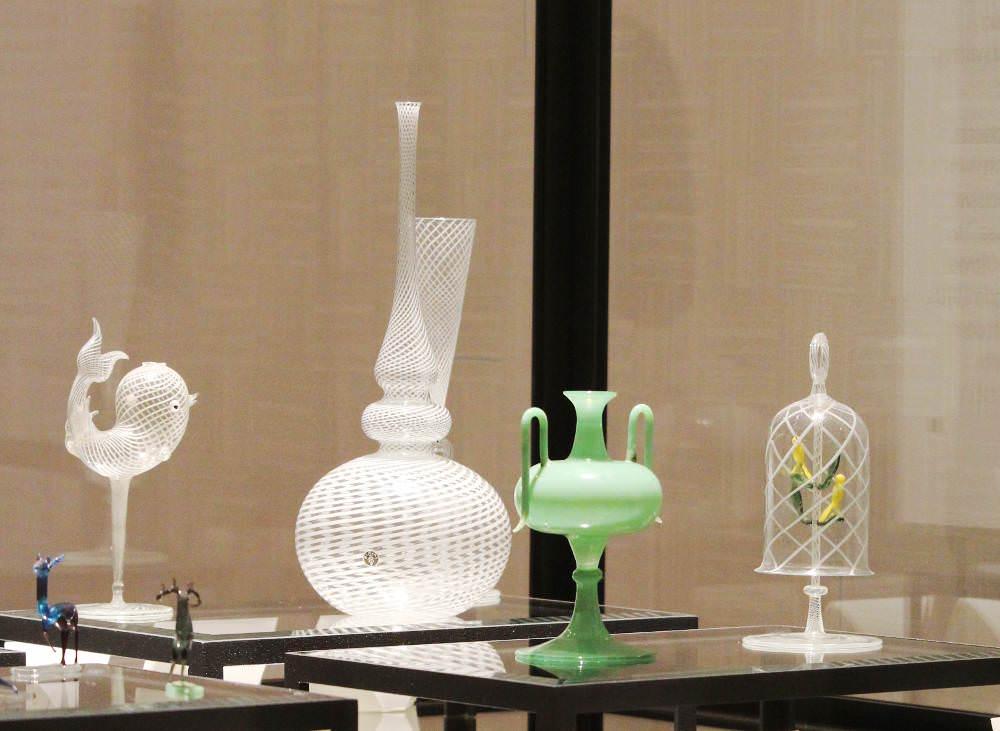 Fritz Lampl, Arthur Berger, Bimini-Werkstätten, Delphin Vase; Vase ATTIKA; Vase, nach 1923; Vogelkäfig (MAK), Foto: Alexandra Matzner, ARTinWORDS.